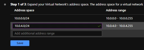 Expand vnet address space